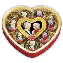 Mozart srdce, plastová dóza..