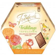 Feodora jarní mini mléčné  čokolády s příchutí jahod a vanilky