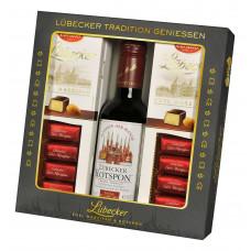 Lübecký Marcipán - Sousta v hořké čokoládě s červeným vínem