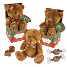 Vánoční plyšový medvídek s pra..