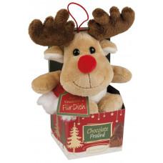 Vánoční plyšový los s pralinka..