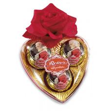 Mozart srdce s růží..